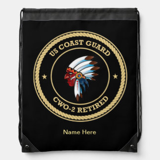 USCG  CWO-2 Retired Indian Chief Shield Backpack