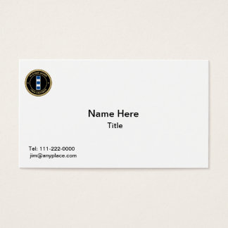 USCG CWO-4 Retired Collar Device Shield Business Card