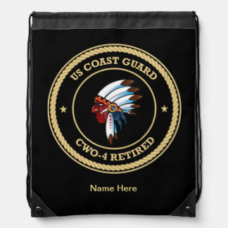 USCG CWO-4 Retired Indian Chief Shield Backpacks