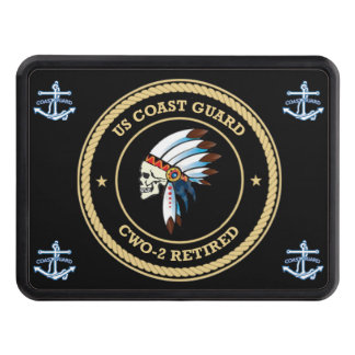 USCG d Chief Warrant Officer 2 Trailer Hitch Cover