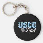 USCG Dad Keychains