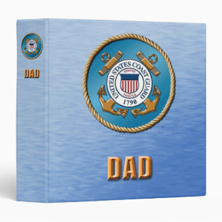 USCG Dad  One Touch EZD™ Ring Avery Signature 3 Ring Binder