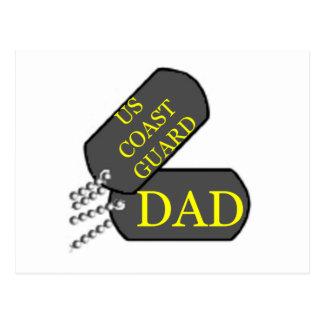 USCG Dad Postcard