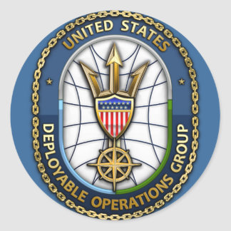 USCG Deployable Operations Group) Classic Round Sticker