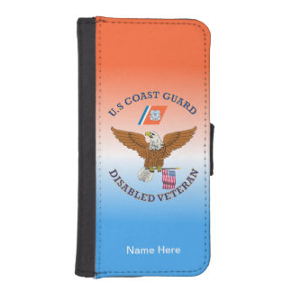 USCG  Disabled Veteran Eagle Shield. iPhone SE/5/5s Wallet Case
