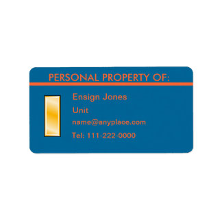 USCG Ensign Personal Property Label