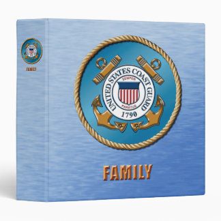 USCG Family One Touch EZD™ Ring Avery Signature 3 Ring Binder