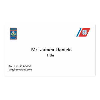 USCG First Class Petty Officer Logo Double-Sided Standard Business Cards (Pack Of 100)