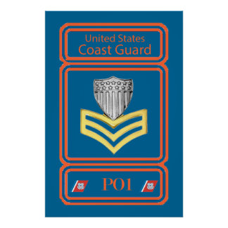 USCG First Class Petty Officer Logo Posters