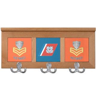 USCG First Class Petty Officer Retired Shield Coat Rack