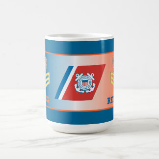 USCG First Class Petty Officer Retired Shield Coffee Mugs