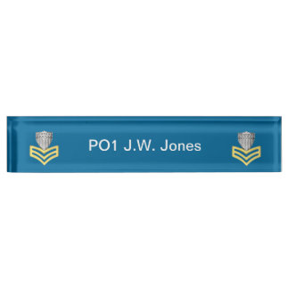 USCG First Class Petty Officer Shield Desk Name Plates
