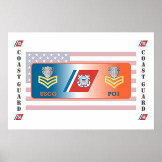 USCG First Class Petty Officer Shield Poster