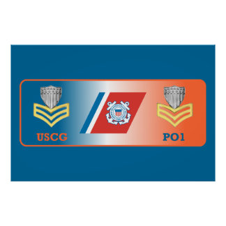USCG First Class Petty Officer Shield Posters