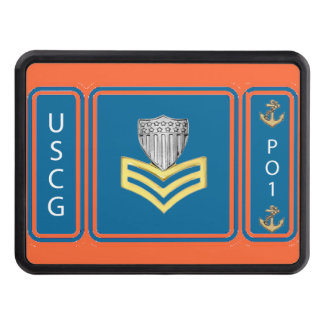 USCG First Class Petty Officer Trailer Hitch Cover