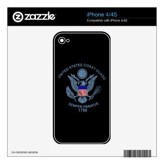 USCG Flag Emblem iPhone 4S Skin