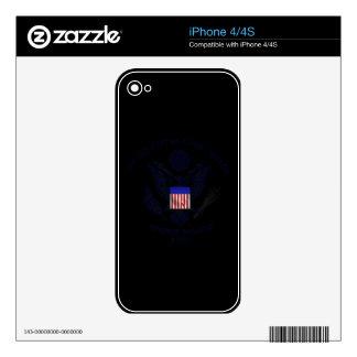 USCG Flag Emblem Skin For iPhone 4