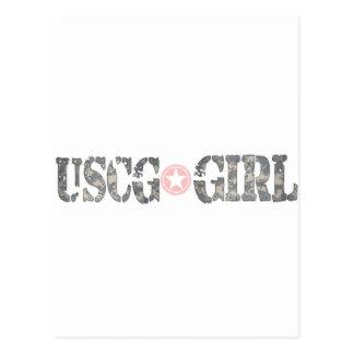 USCG Girl Camo Postcard