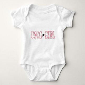 USCG Girl pink Baby Bodysuit