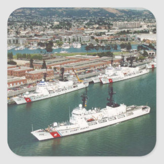 USCG Hamilton Class Cutters Square Sticker