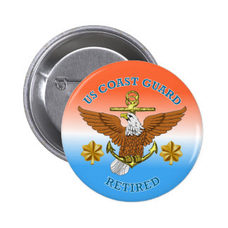 USCG LCdr Retired Eagle Anchor Shield Buttons