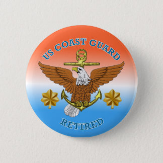 USCG LCdr Retired Eagle Anchor Shield Pinback Button