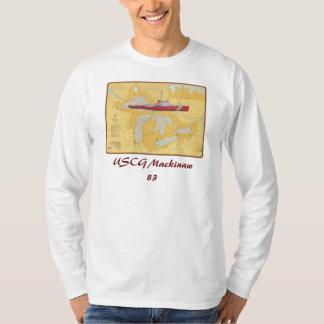 USCG Mackinaw 83 Great Lakes Ship on chart T-Shirt