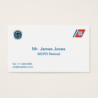 USCG Master Chief Petty Officer Business Card