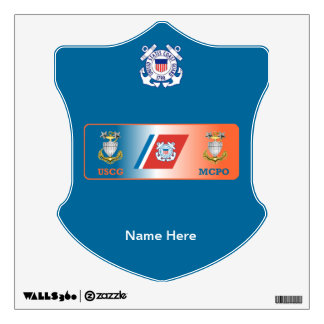 USCG Master Chief Petty Officer (MCPO) Shield Wall Decal