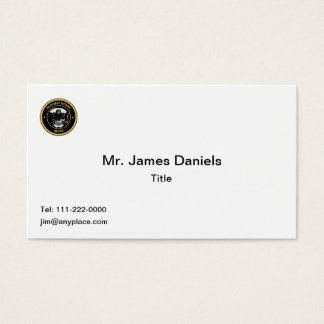 USCG Master Chief Petty Officer Skull Business Card