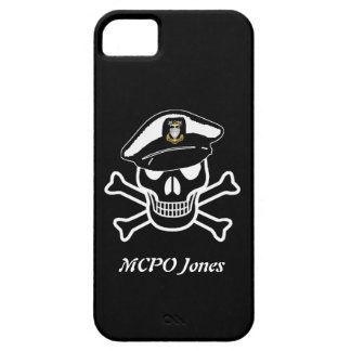 USCG MCPO Scull iPhone 5 Barely There Case