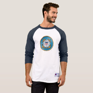 USCG Men's Champion 3/4 Sleeve Raglan T-Shirt