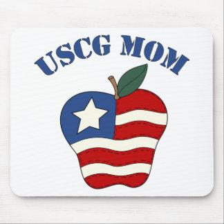USCG Mom Patriotic Apple Mouse Pad