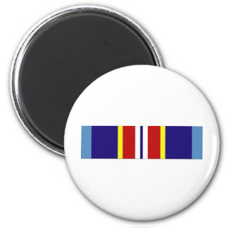 USCG Overseas Service Ribbon 2 Inch Round Magnet