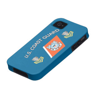 USCG Petty Officer First Class Racing Stripe iPhone 4/4S Cover