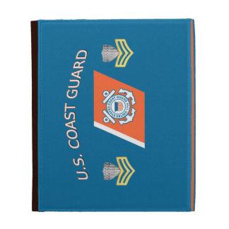 USCG Petty Officer First Class Racing Stripe iPad Folio Cover