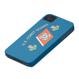 USCG Petty Officer First Class Racing Stripe iPhone 4 Cases
