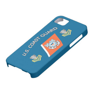 USCG Petty Officer First Class Racing Stripe iPhone SE/5/5s Case