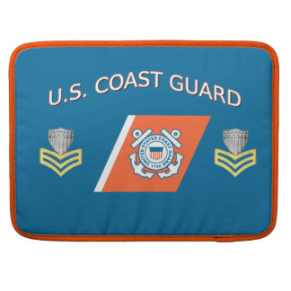USCG Petty Officer First Class Racing Stripe Sleeve For MacBook Pro