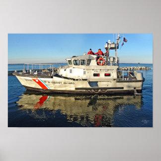 USCG poster del bote salvavidas del motor de 47 pi