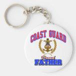 USCG Proud Father Basic Round Button Keychain