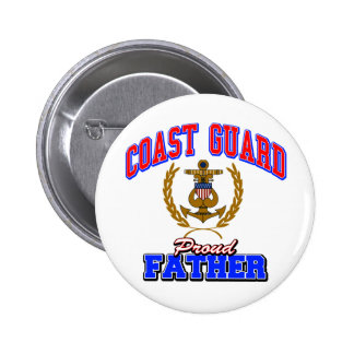 USCG Proud Father Button