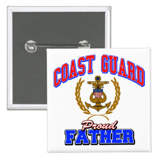 USCG Proud Father Pinback Button