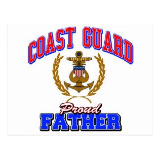 USCG Proud Father Postcard