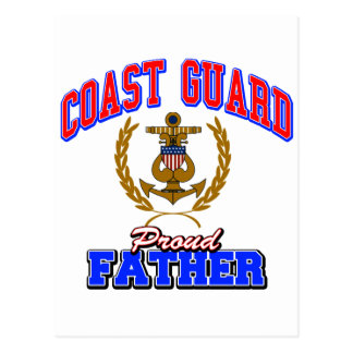 USCG Proud Father Postcard