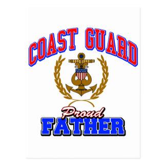 USCG Proud Father Postcards