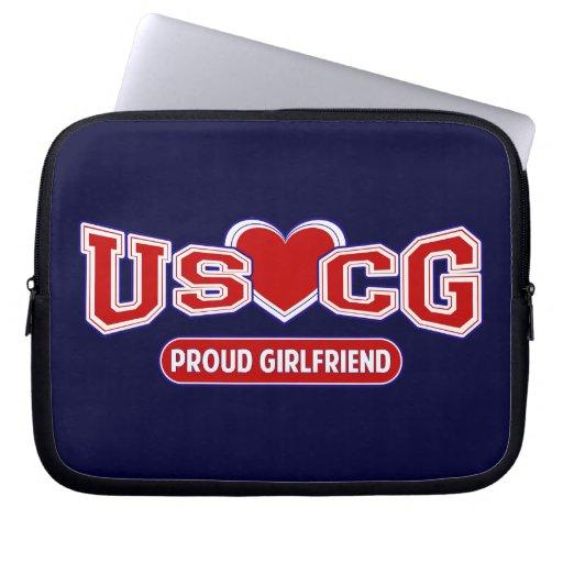 USCG Proud Girlfriend Laptop Sleeve