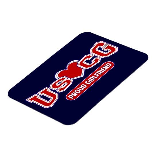 USCG Proud Girlfriend Magnet