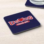 USCG Proud Wife Beverage Coaster