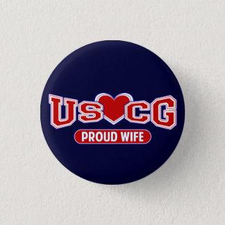USCG Proud Wife Button